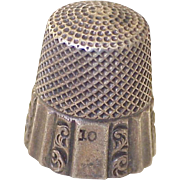 Ketcham & McDougall Antique Sewing Thimble Sterling Silver