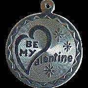 Valentine Vintage Charm Sterling Silver circa 1960's