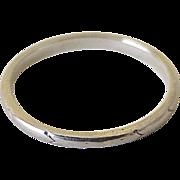 Vintage 18K White Gold Wedding Band Stack Ring