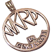 WKRP Radio Cincinnati Vintage Charm Sterling Silver circa 1960's