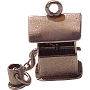 Moving Wishing / Water Well Vintage Charm Sterling Silver