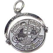 Vintage Sterling Silver Charm ~ Worlds Fair 1964-65