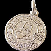 Vintage PetersboroughTravel Souvenir Charm Sterling Silver