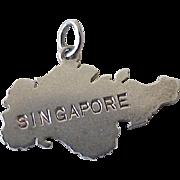 Singapore Travel Souvenir Vintage Charm Sterling Silver circa 1960's