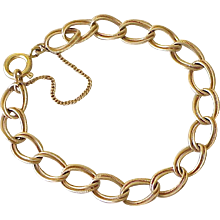 Vintage 14K Gold Double Link Bracelet  11.5 Grams circa 1950's