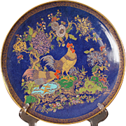 Large Carlton Ware W & R Cock & Peony Pattern 2250 Wall Charger circa 1920's