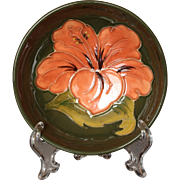 """Moorcroft Pottery Hibiscus Pattern Footed Bowl, 4.5"""" Alison Neale"""
