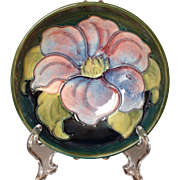 """Moorcroft Pottery Clematis Pattern Footed Bowl, 4.5"""""""