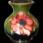 "Moorcroft Pottery Anemone Pattern 3.75"" Vase, Walter Moorcroft"