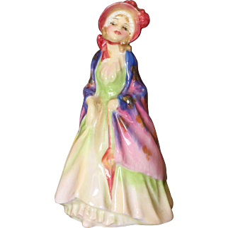 Royal Doulton Miniature Figure THE PAISLEY SHAWL M4 Issued 1932-45