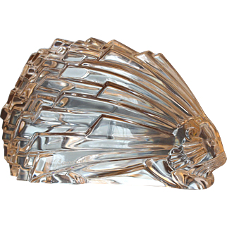 Lead Crystal BACCARAT Porcupine Paperweight, Fully Marked