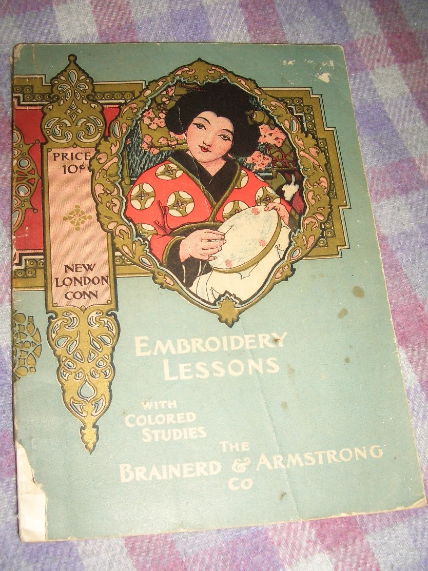 Embroidery Lessons Colored Studies Brainerd Armstrong 1902 Pillows SOLD On Ruby Lane