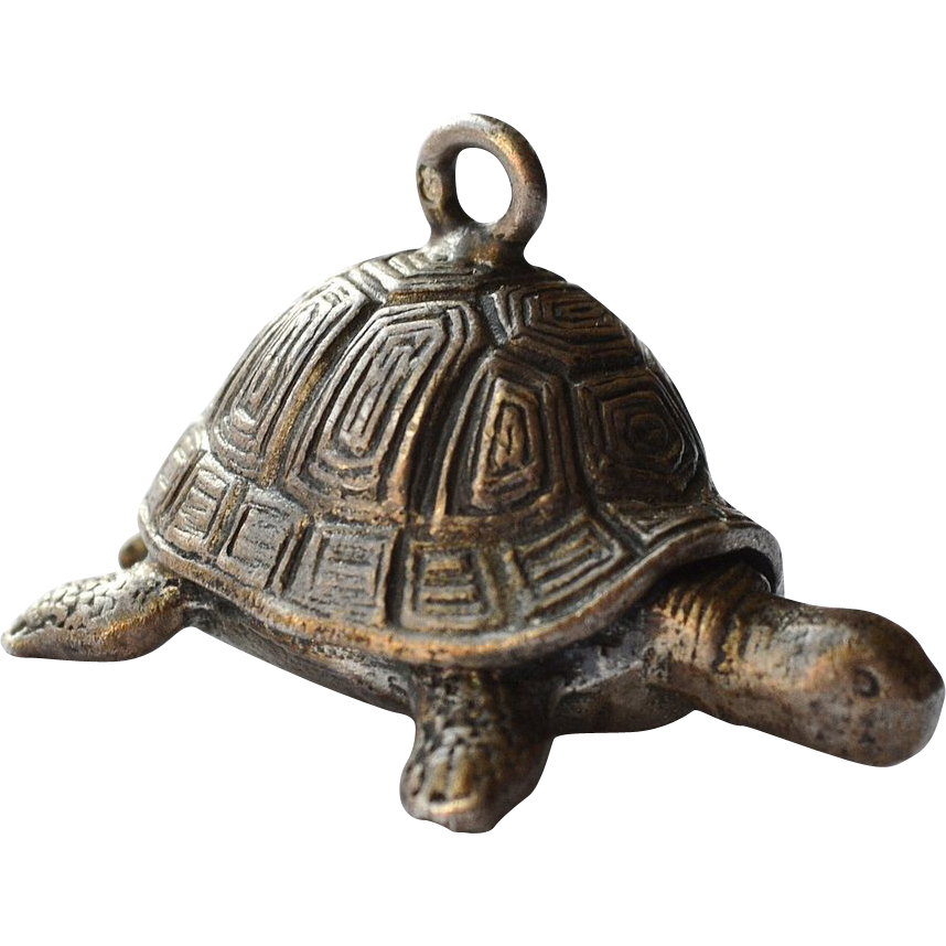 cast sterling silver turtle charm pendant sold on