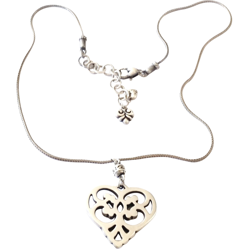 Retired Sterling Silver Brighton Heart Love Necklace Sold