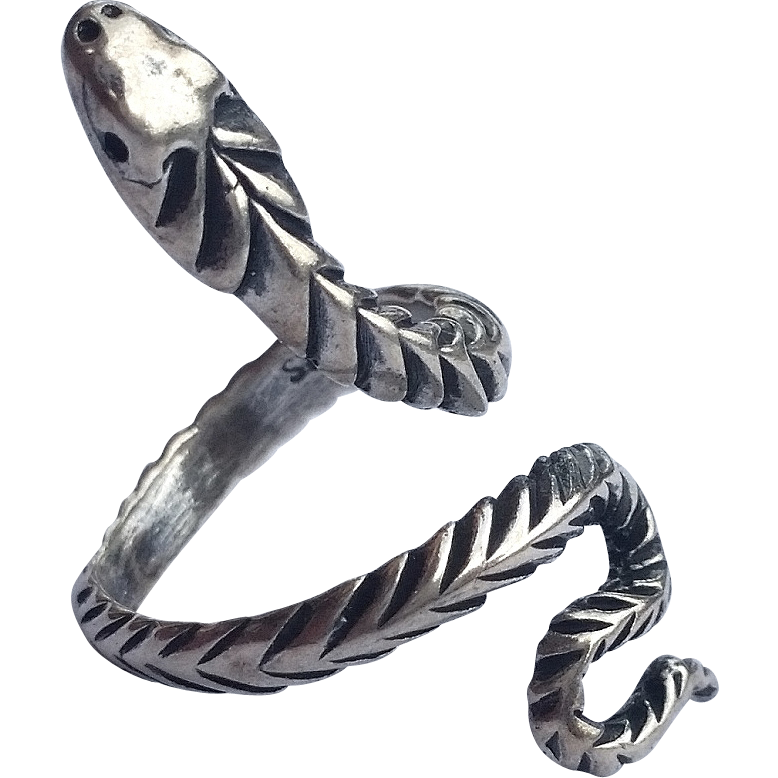 vintage sterling silver snake ring size 4 1 4 from