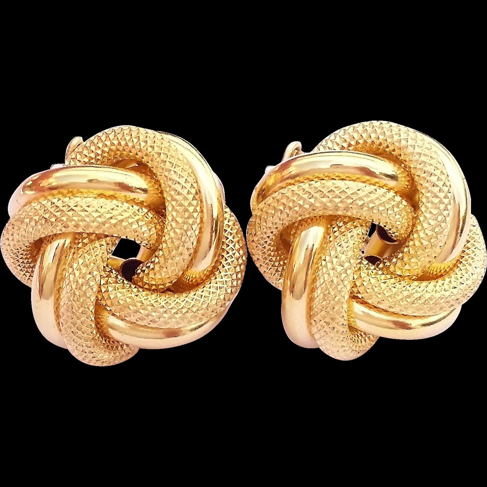 Stunning Italy Unoaerre Vintage 14 Karat Yellow White Gold Infinity Sold Ruby Lane