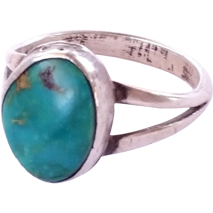 Indian Pottery Turquoise Ring Base