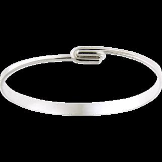 Ed Levin Clip Top Sterling Bangle Bracelet