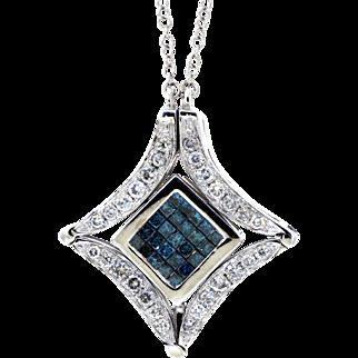 EFFY Blue and White Diamond Convertible Pendant Necklace