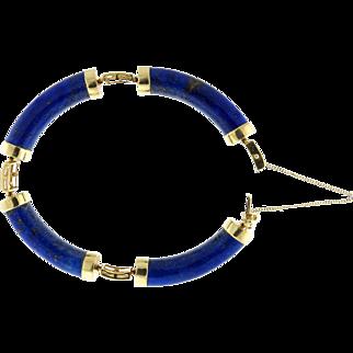Lapis and 14 Karat Yellow Gold Bracelet