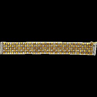 Roberto Coin 5 Row Two Tone APPASSIONATA Diamond Bracelet