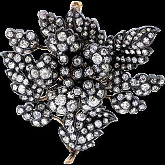 Early Victorian Diamond En Tremblant Brooch