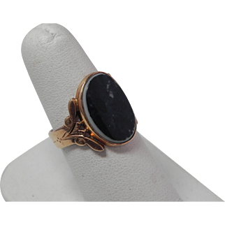 Early Victorian Onyx Ring