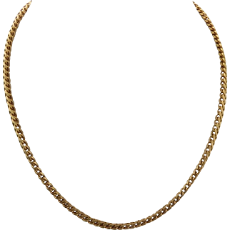 18 KT Gold Fancy Weave Necklace 20 Inches
