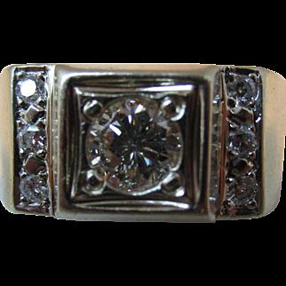 Vintage Mens Diamond Ring