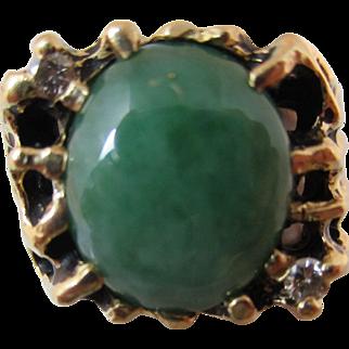 Men's Jade & Diamond Ring