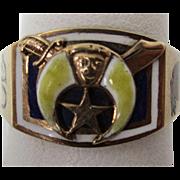 Vintage One of a Kind 1927 Enamel Shriner's Ring