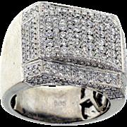 Show Stopper 14 karat white gold 3 ctw Diamond Ring