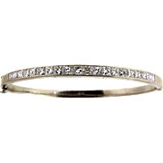 14 Kt White Gold Diamond Bangle Bracelet