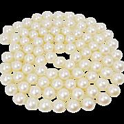 Opera Length 7.5mm Pearl Strand 32 Inch Cultured Salt Water Pearls