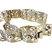 """TAXCO Mexico Sterling Silver Hand Crafted Openwork Belt, 29.5"""""""
