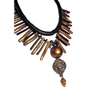Egyptian Coral Artisan Necklace
