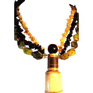 African Bone Bottle Artisan Necklace