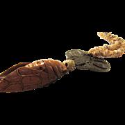 Boxwood INRU CICADA Artisan Necklace