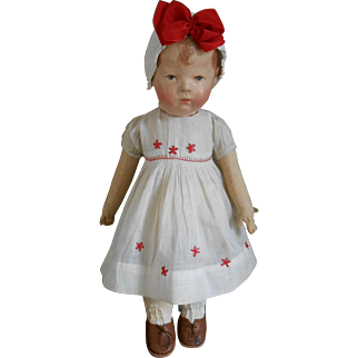 **Sweet Käthe Kruse doll 1, with wide hips..approx 1918