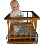 ***A vintage wooden PLAYPEN *** approx 1960 - Red Tag Sale Item