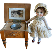 **Amazing miniature WASH STAND for a doll house or small doll**CATS on the TOP !!!