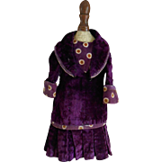 **An authentic small purple dress for your cabinet size doll***