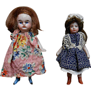 *****Two little dolls for your doll house****all bisque.