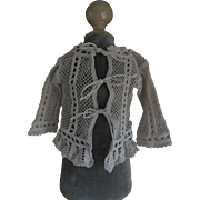 ***Beautiful old hand crochet cardigan***