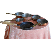 ******an Antique set of 6 pans for your stove*****