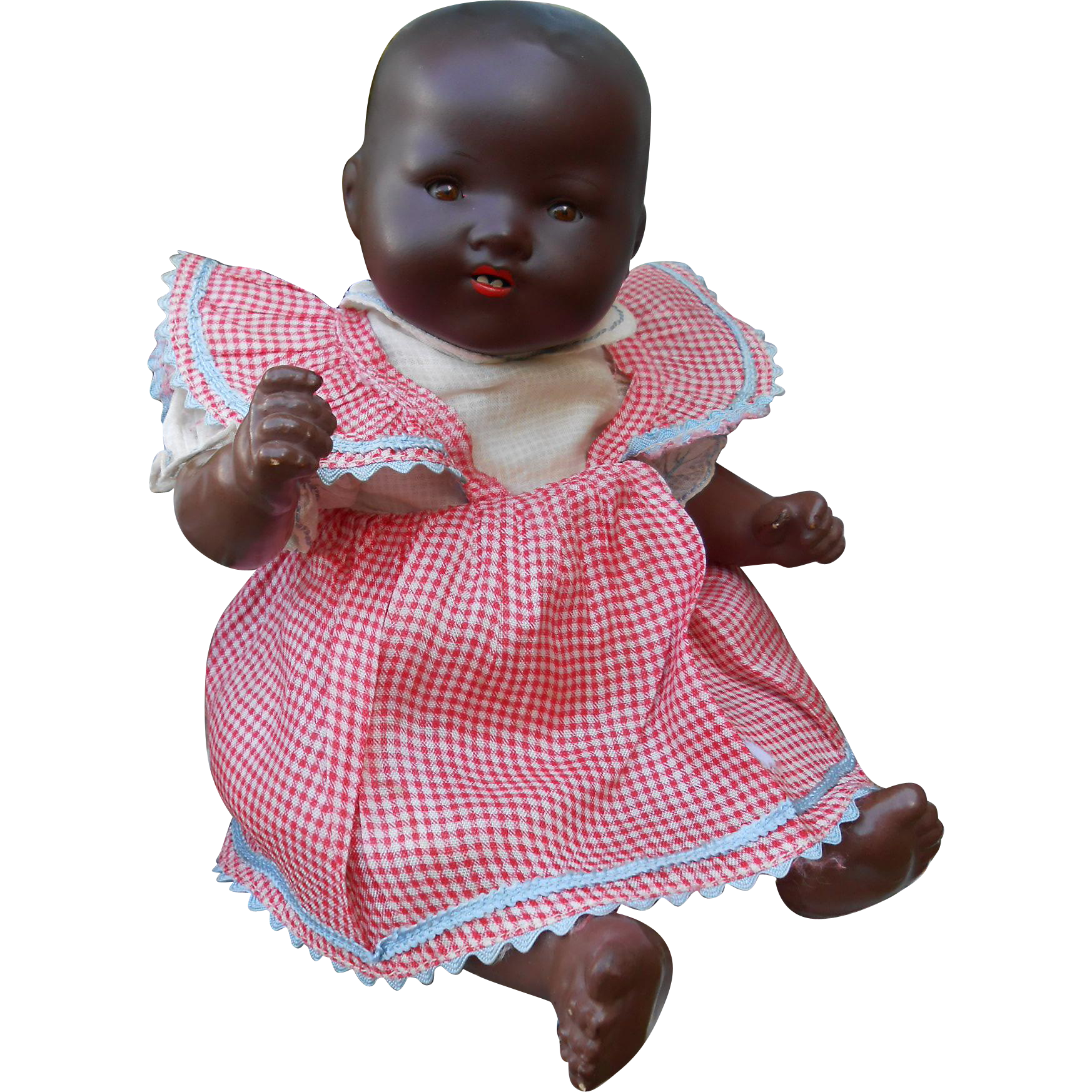 cute small mulatto baby armand marseille, mold 351, 12 inches