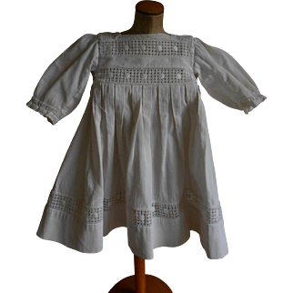 *****An authentic white cotton French dress*******