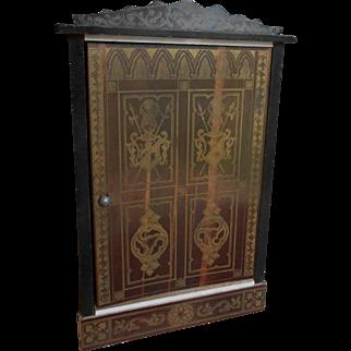 **Wonderful Boule Biedermeier antique doll house armoire**