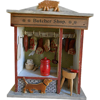 **Wonderful small size antique Butcher Shop**