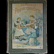 **wonderful book  with patterns**Die Fleissige Puppenschneiderin* all complete approx 1903 !!!